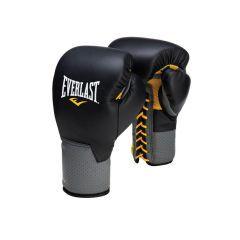 Боксерские перчатки профессиональные Everlast Pro Leather Laced черн.