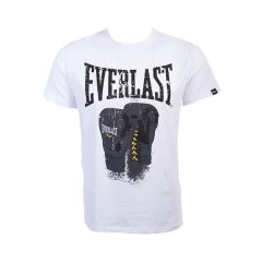 Футболка Everlast Logo Protex Gloves бел.