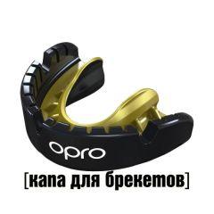 Боксерская капа Opro Gold Level Black/Gold