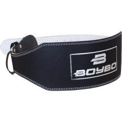 Тяжелоатлетический пояс BoyBo - черный/белый