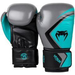 Боксерские перчатки Venum Contender 2.0 Grey/Turquoise-Black