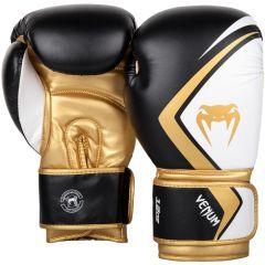 Боксерские перчатки Venum Contender 2.0 Black/White-Gold