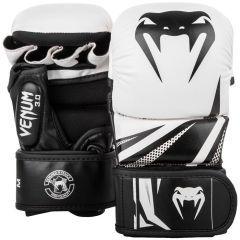 Гибридные ММА перчатки Venum 3.0 White/Black