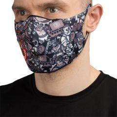 Защитная неопреновая маска Hardcore Training Doodles Black/White
