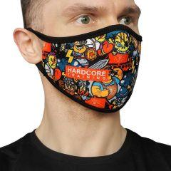 Многоразовая неопреновая маска Hardcore Training Doodles Color 2.0