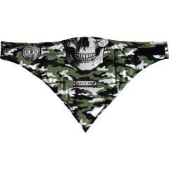Многоразовая маска-бандана Hardcore Training Scull Green Camo