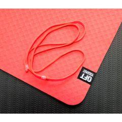 Мат для йоги 6 мм двухслойный Original FitTools красный