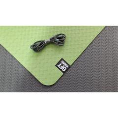 Мат для йоги 6 мм двухслойный Original FitTools зеленый
