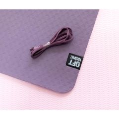 Мат для йоги 6 мм двухслойный Original FitTools фиолетовый