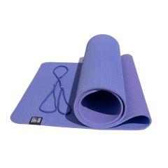 Коврик для йоги 6 мм двуслойный TPE Original FitTools сиреневый