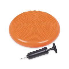 Подушка массажно-балансировочная с насосом Atletika24 оранжевая