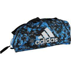 Спортивная сумка Adidas Combat Camo L сине-камуфляжная