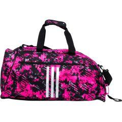 Спортивная сумка Adidas Combat Camo M розово-камуфляжная