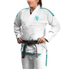Кимоно (ги) для БЖЖ Hayabusa Lightweight White/Teal
