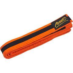 Детский пояс для кимоно БЖЖ Manto Tag оранжевый/черный