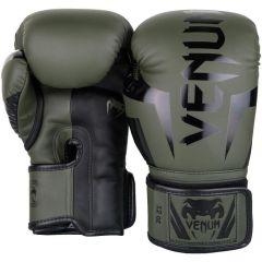 Боксерские перчатки Venum Elite Khaki/Black