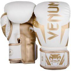 Боксерские перчатки Venum Elite White/Gold