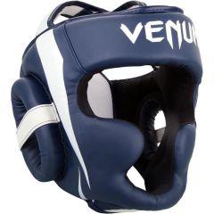 Боксерский шлем Venum Elite Navy Blue/White