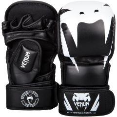 Гибридные мма перчатки Venum Impact Black/White