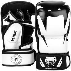 Гибридные мма перчатки Venum Impact White/Black