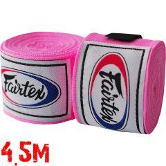 Боксерские бинты Fairtex Pink 4.5м