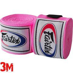 Боксерские бинты Fairtex Pink 3м