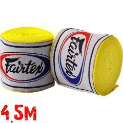 Боксерские бинты Fairtex Yellow 4.5м