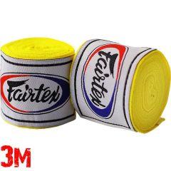 Боксерские бинты Fairtex Yellow 3м