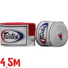 Боксерские бинты Fairtex Red/White 4.5м