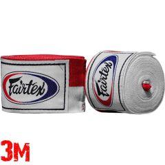 Боксерские бинты Fairtex Red/White 3м