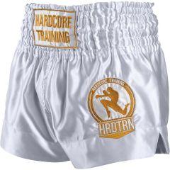Шорты для тайского бокса Hardcore Training Base Whit