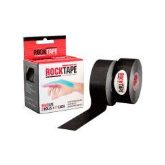 Кинезиотейп RockTape Digit, 2,5см x 5м (2 шт.), черный